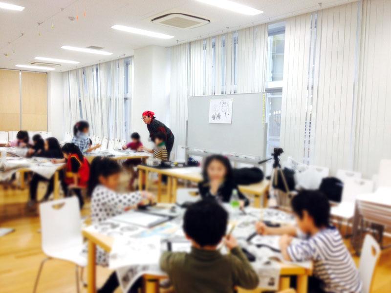 墨絵Art教室@同志社国際学院 初...